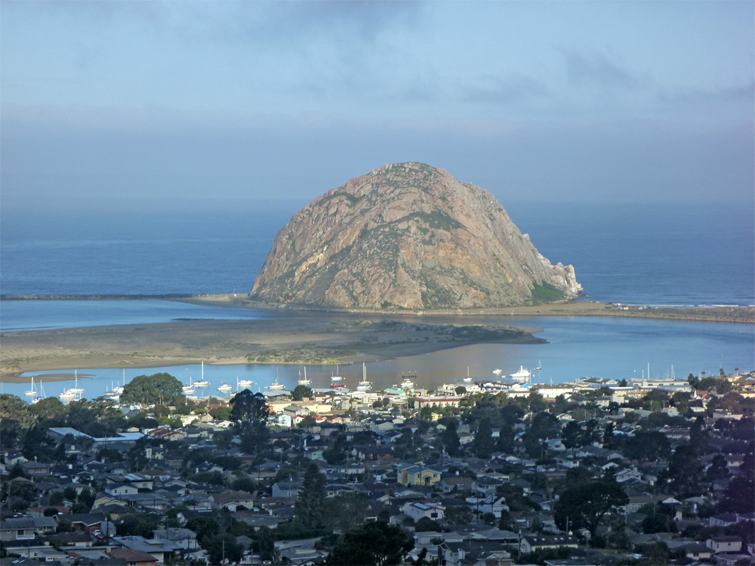 Closer view of Morro Rock