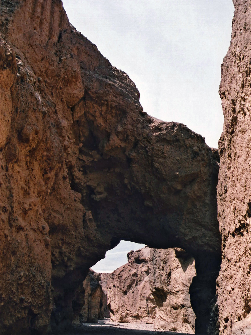 Upstream of the bridge