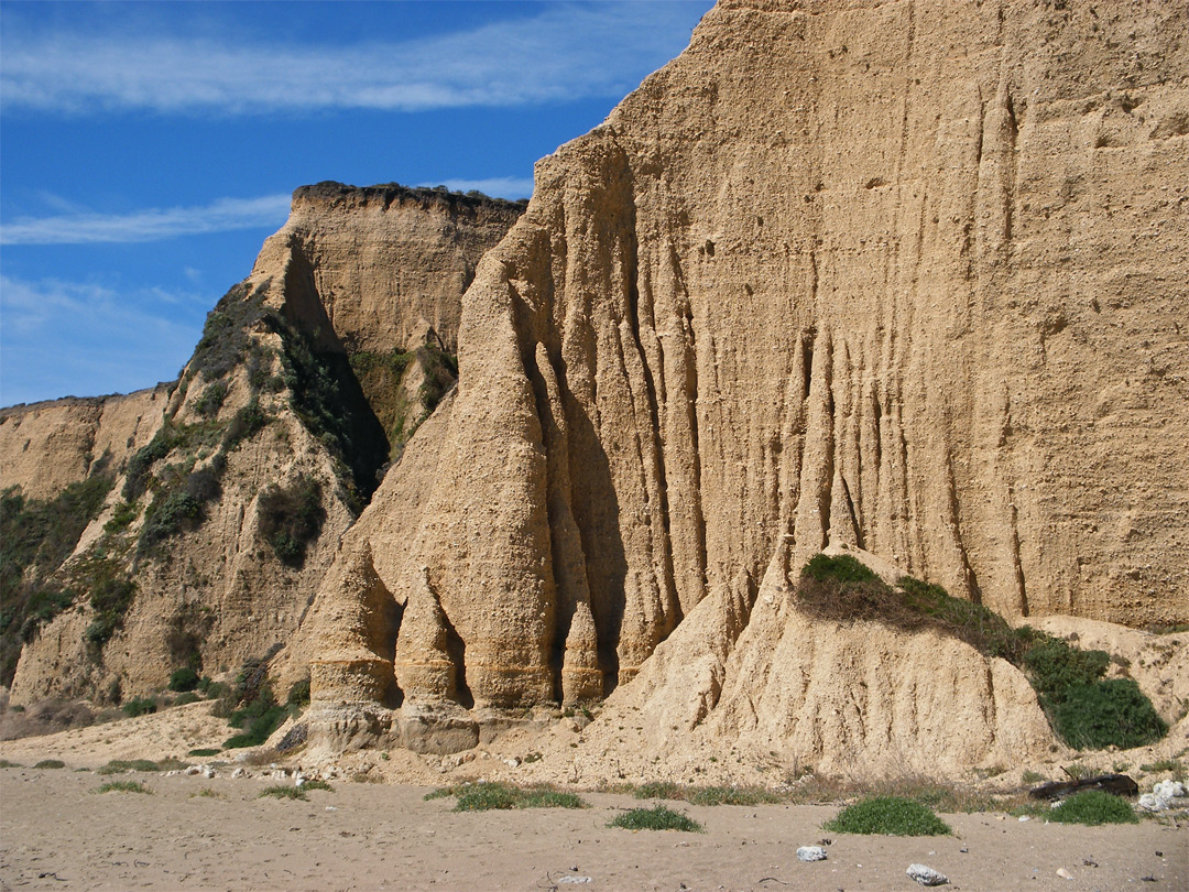 Eroded cliffs