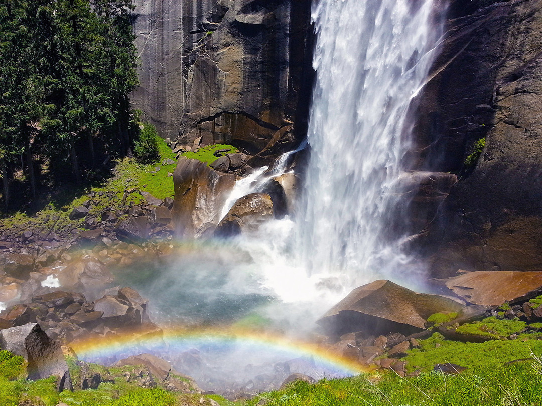 Rainbow below Vernal Fall