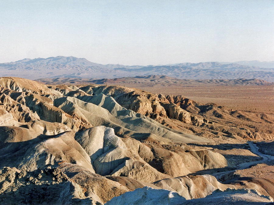 Badlands at the edge of the basin