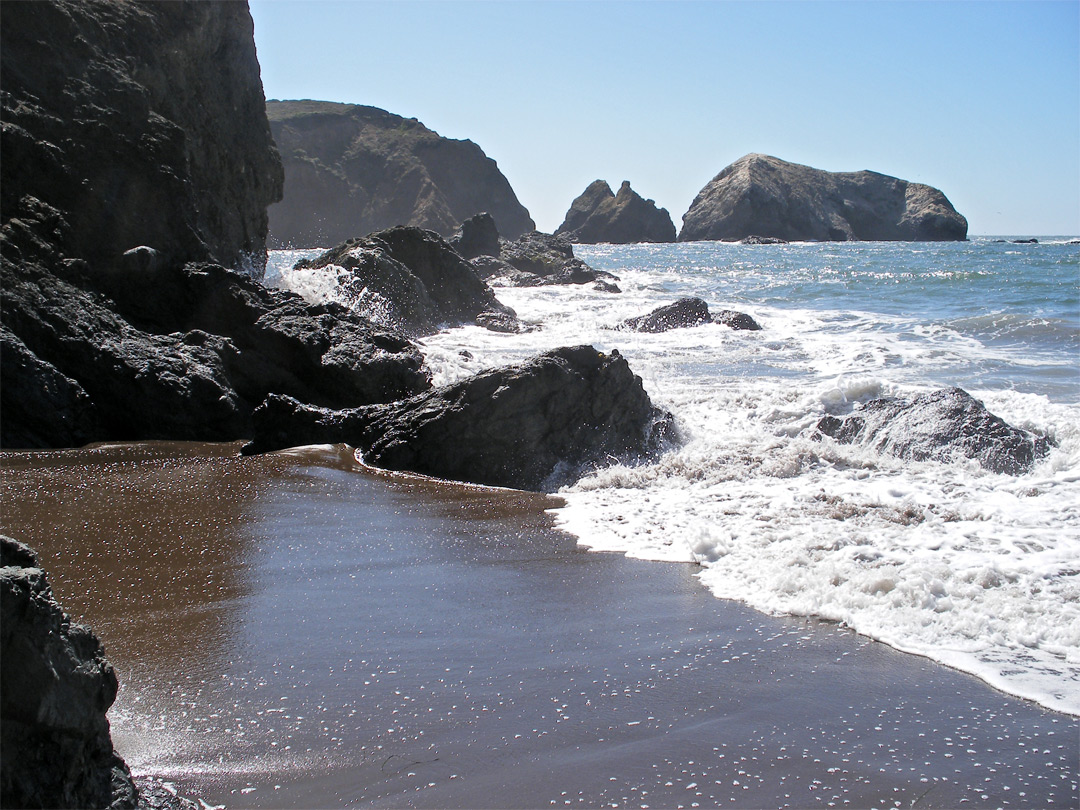 South end of Rodeo Beach