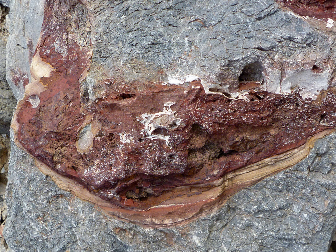 Red-purple rock