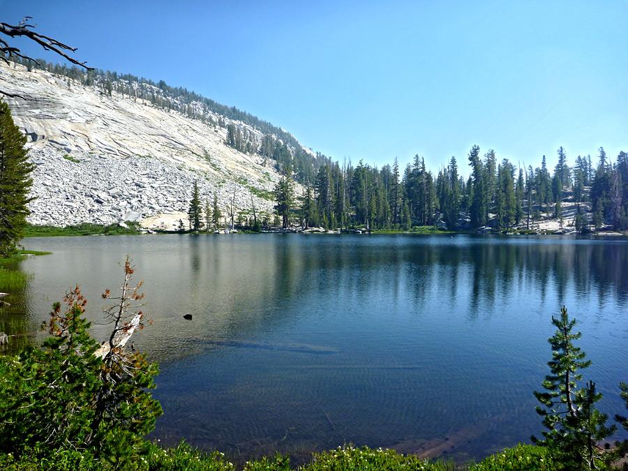 First Lake Sunrise Lakes Yosemite National Park California
