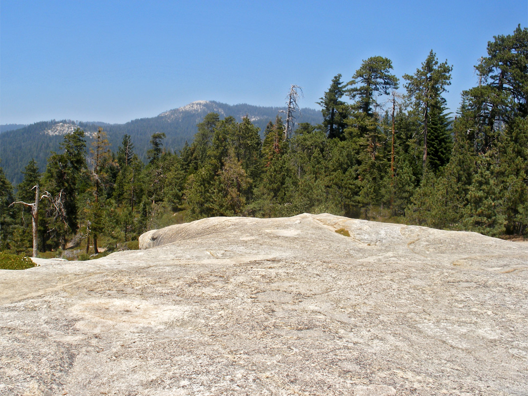 View north from the rock