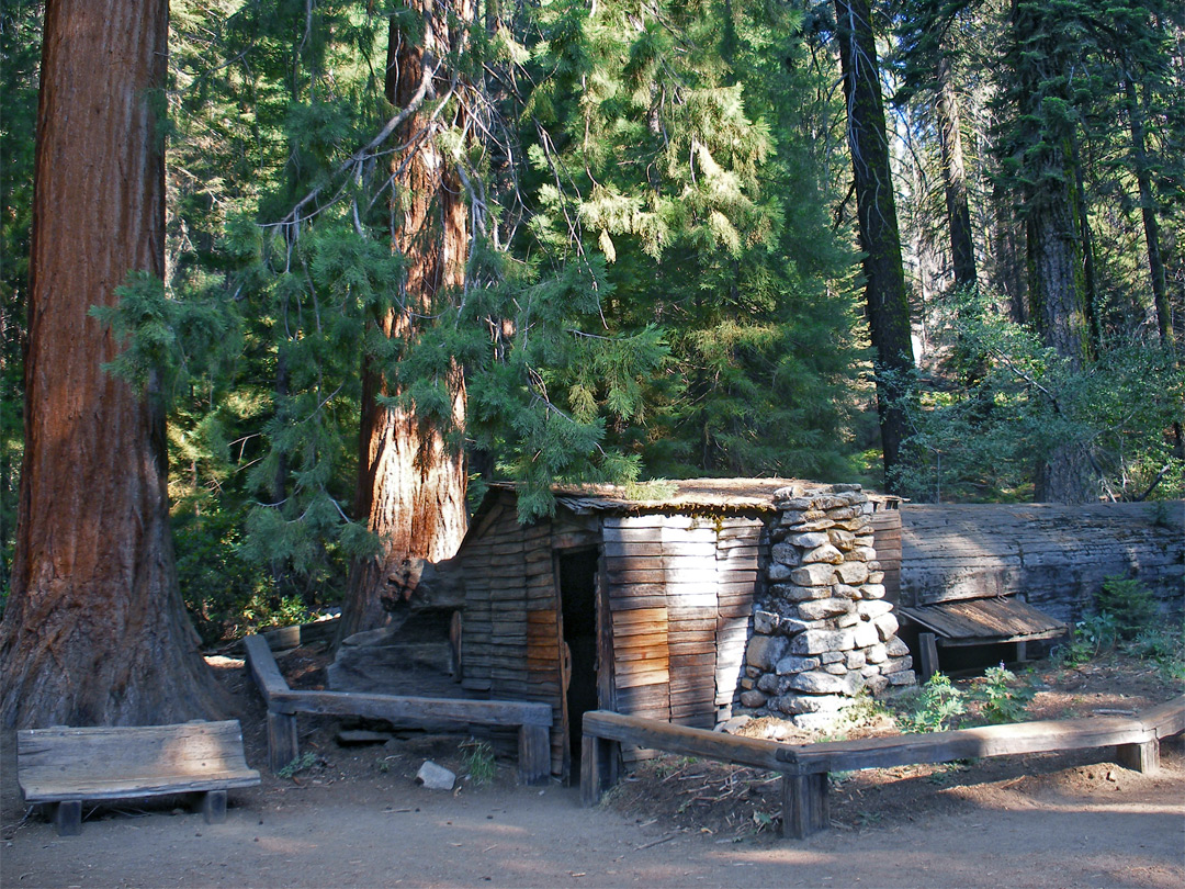 The cabin at Tharps Log