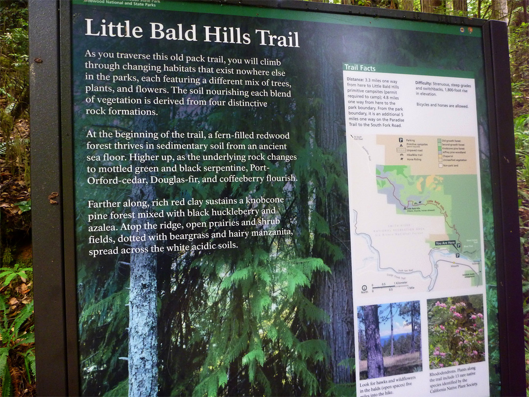 Trailhead notice