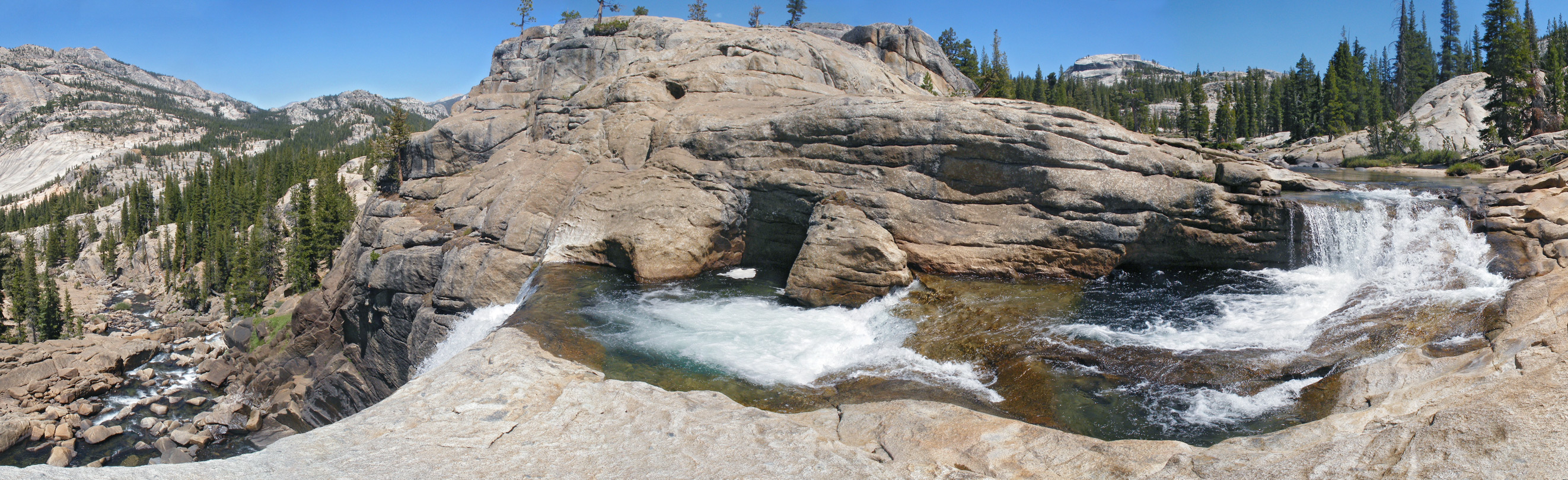 Panorama of Tuolumne Falls