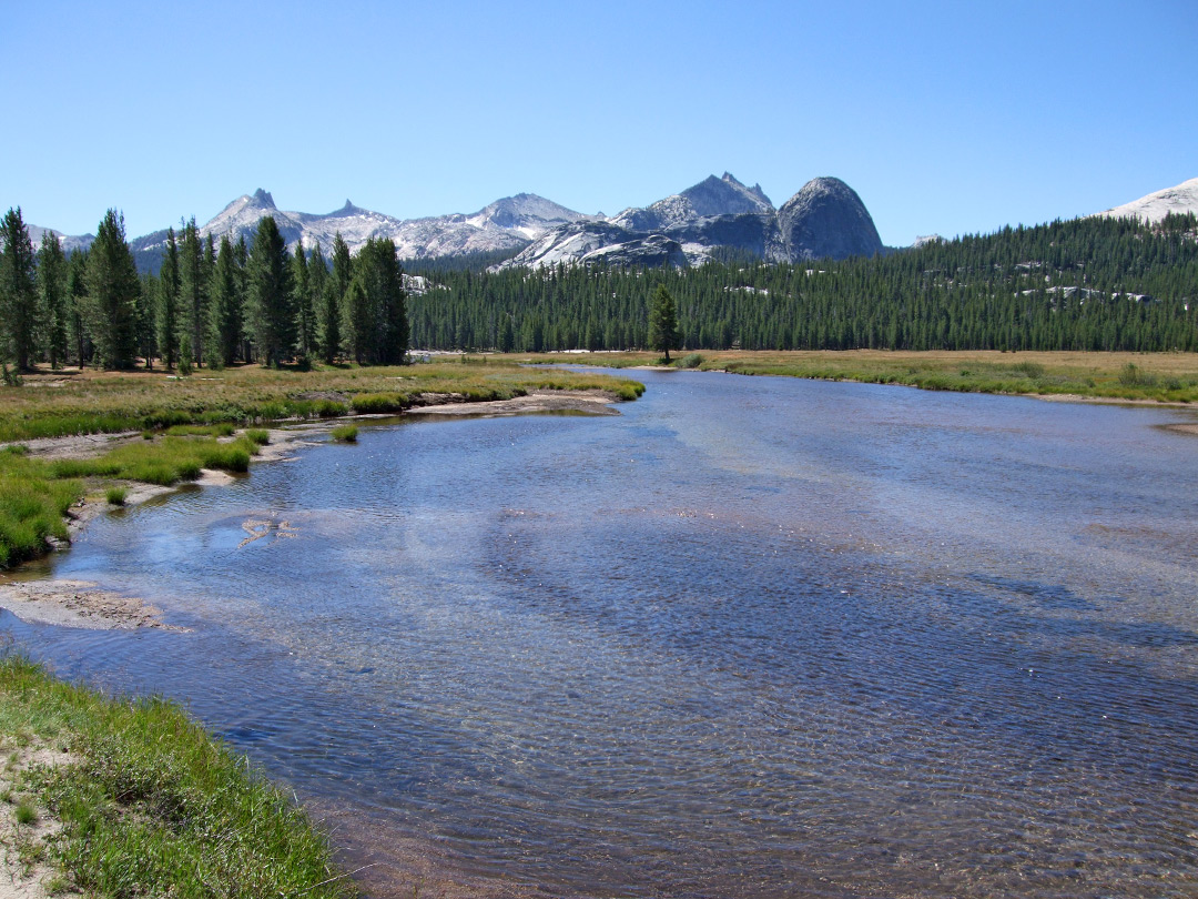 Wide part of the Tuolumne River