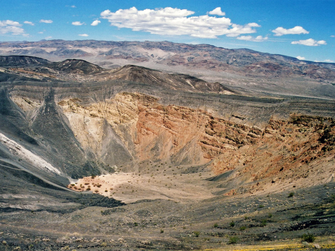 Wide view of the crater