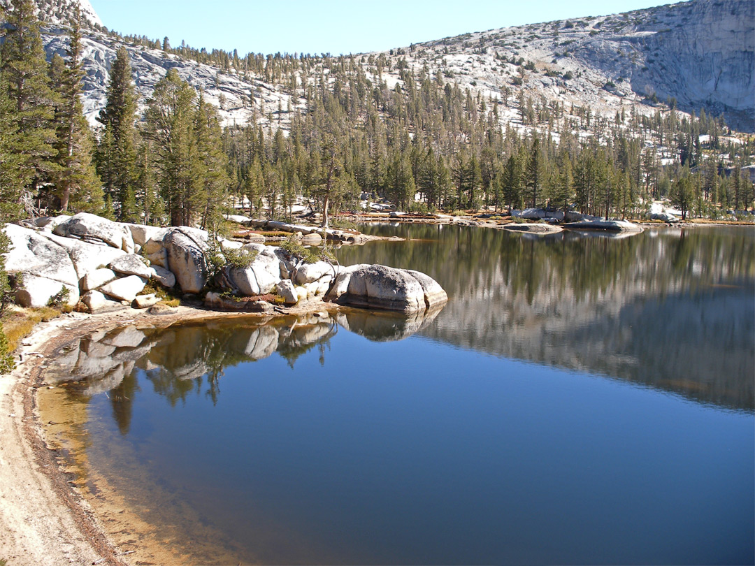 North side of Upper Cathedral Lake