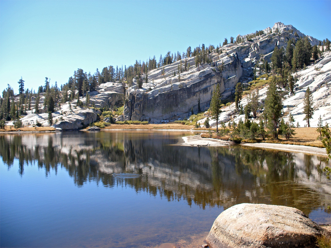West side of Upper Cathedral Lake