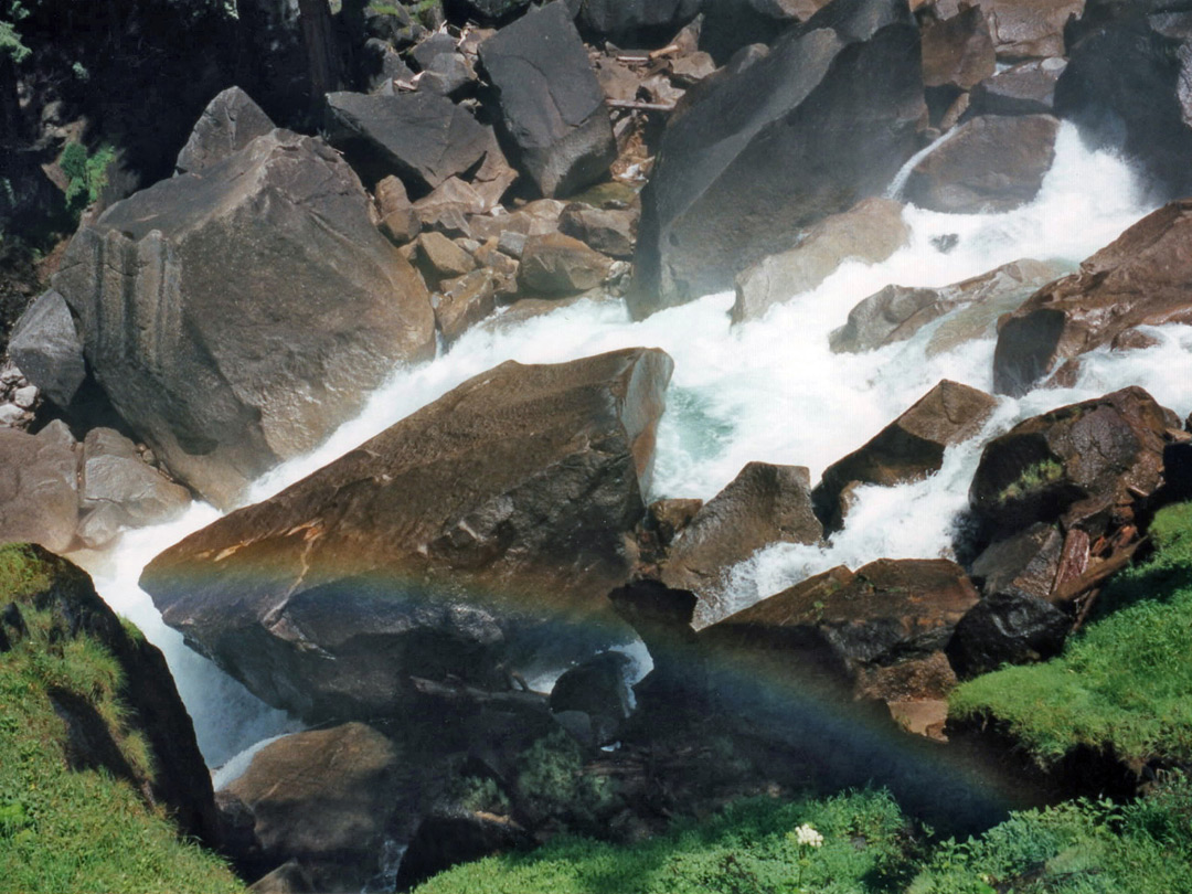 Boulders with rainbow