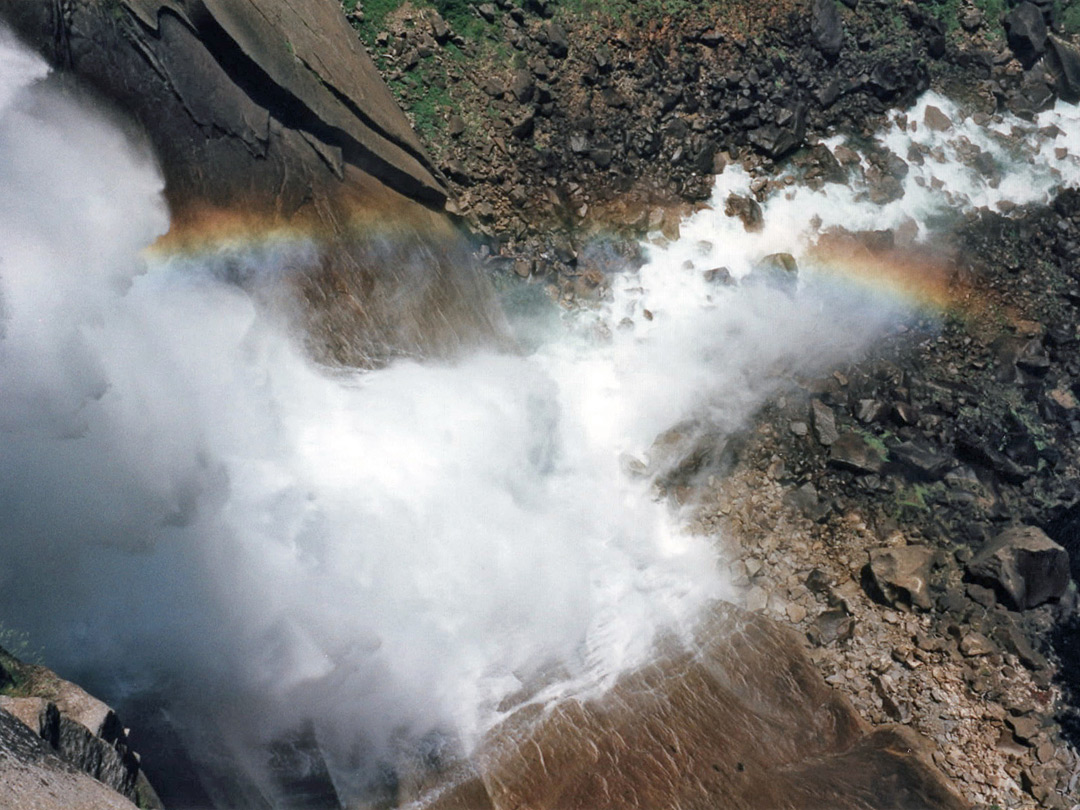 Rainbow beneath Nevada Fall