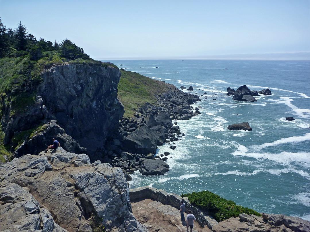 Summit of Wedding Rock: Patricks Point State Park, California Pacific Ocean Waves