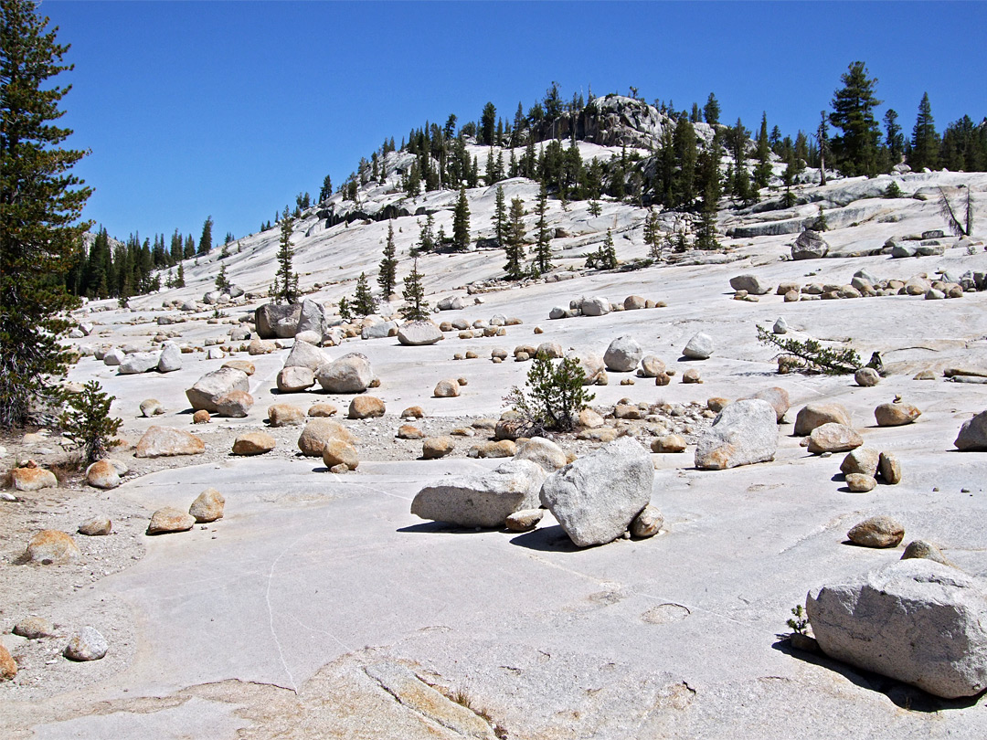 White boulders