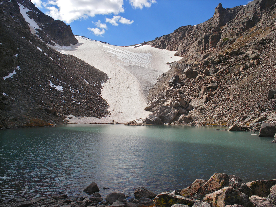 Andrews Tarn and Andrews Glacier