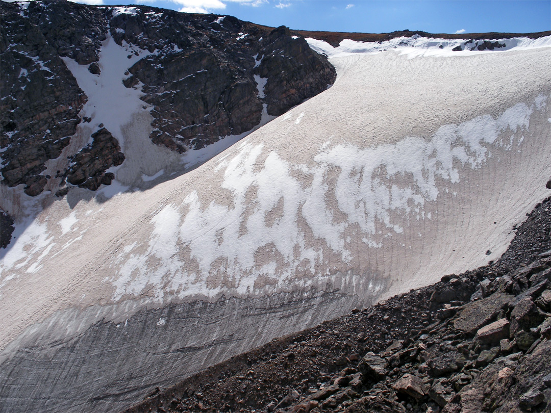 Side of Andrews Glacier: a Loop Hike, Rocky Mountain ...