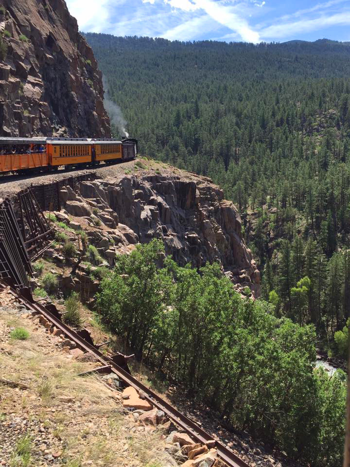Railway across a cliff