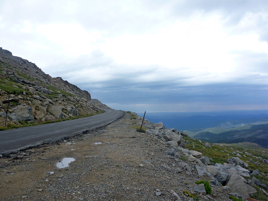 Road near the summit