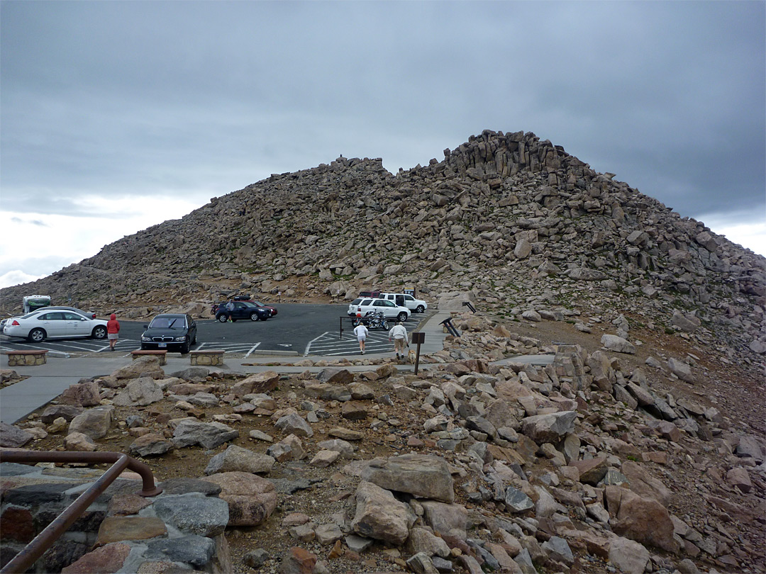 Parking at the summit