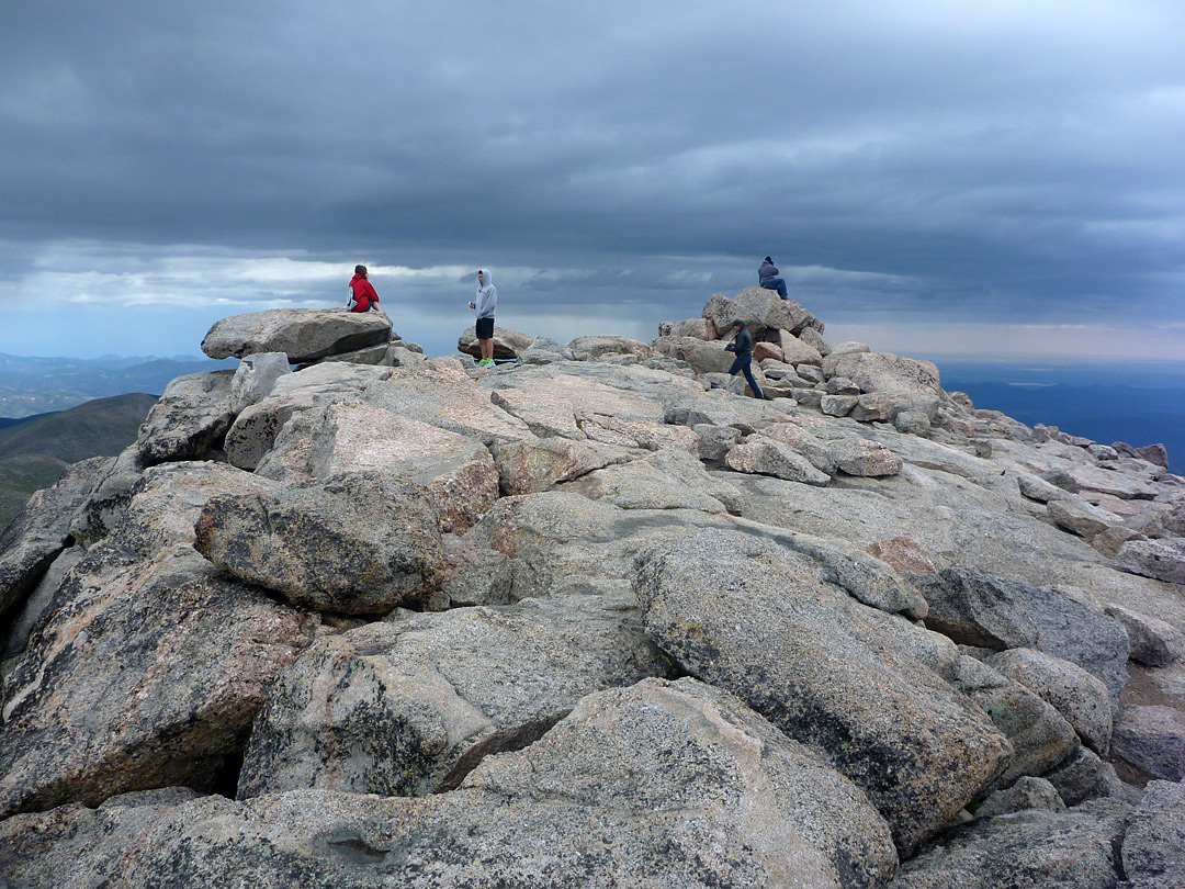 Visitors on the summit