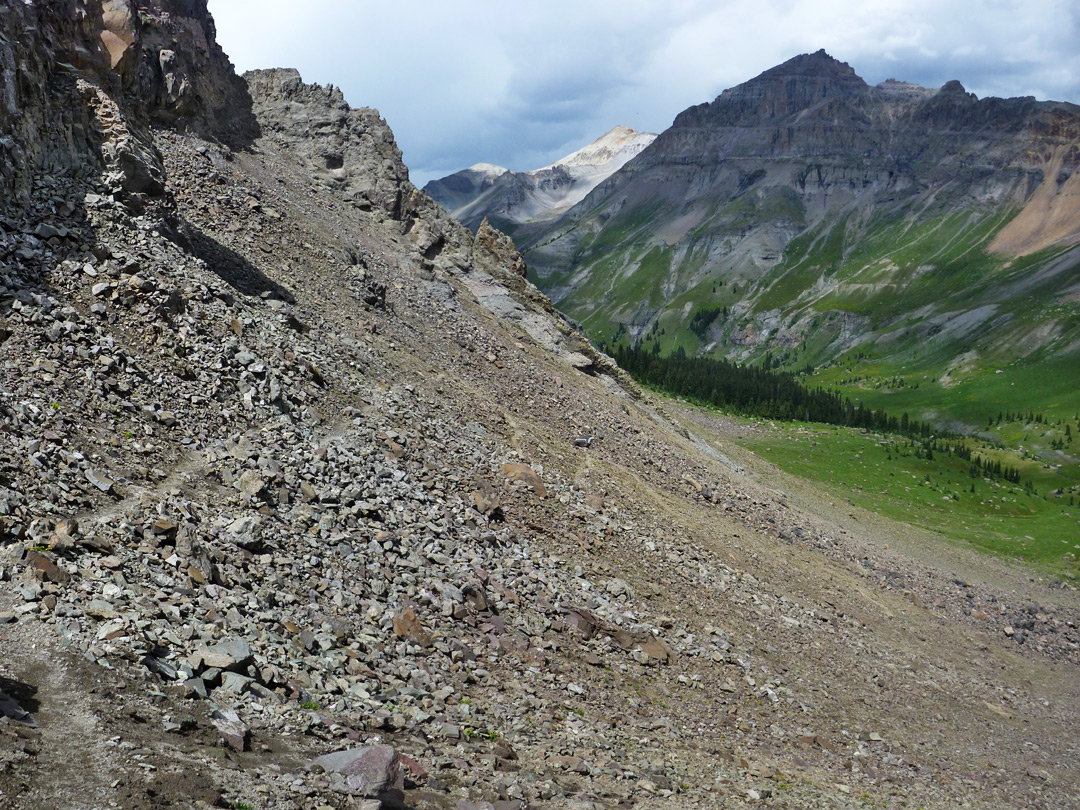 Scree and boulders
