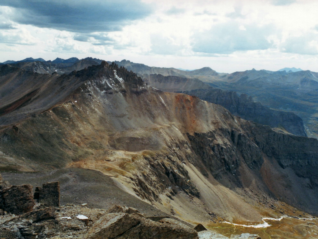 View north from a summit above Telluride