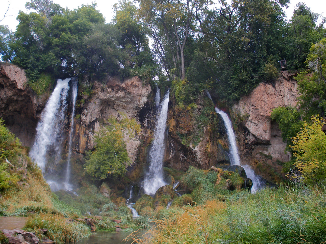 Wide view of the falls