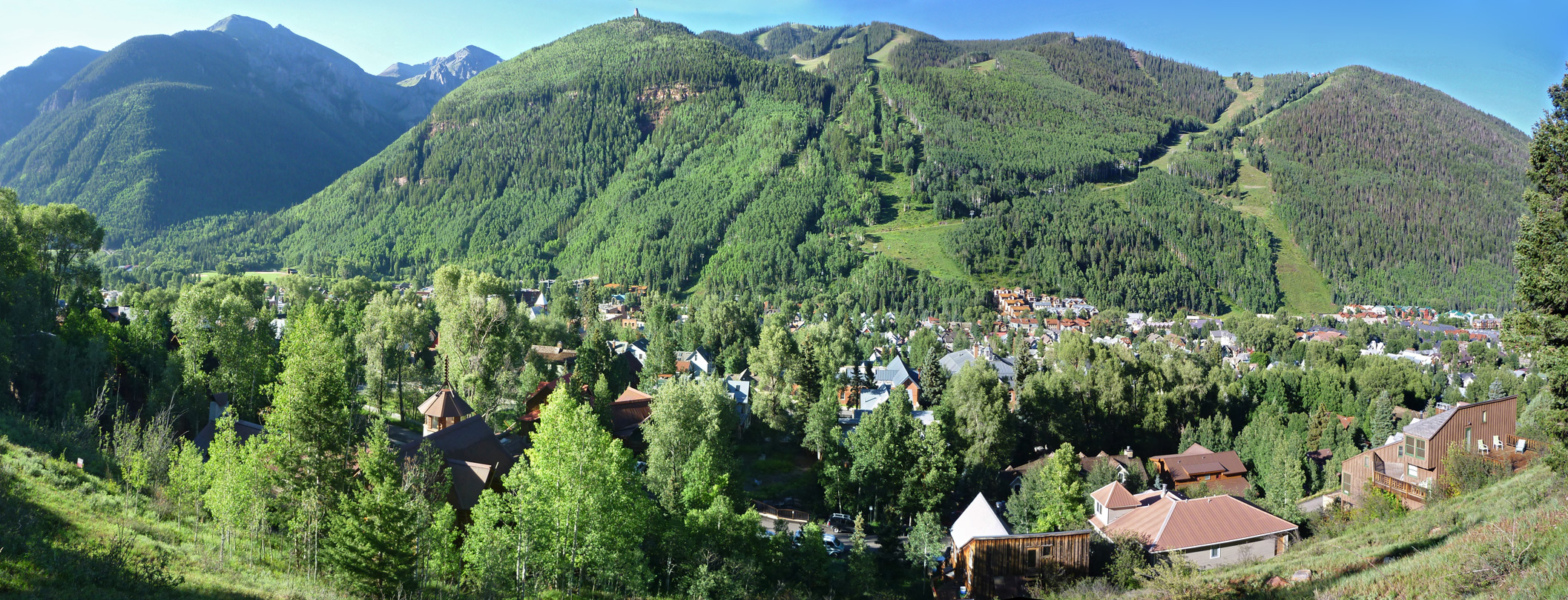 Buildings along the north edge of Telluride