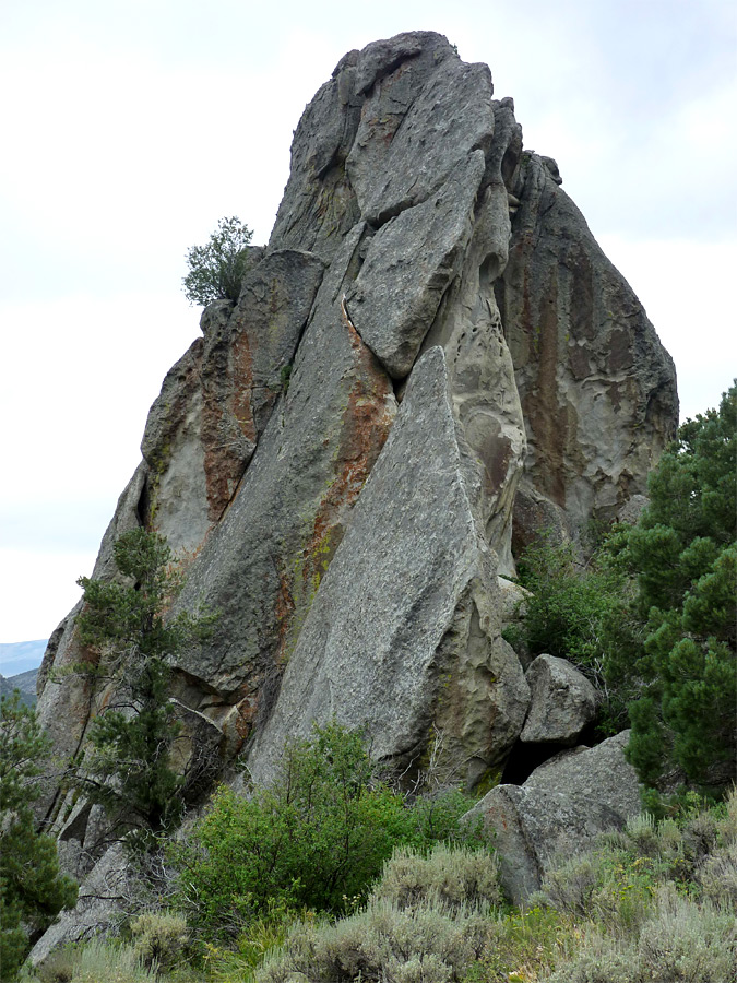 Steep-sided granite