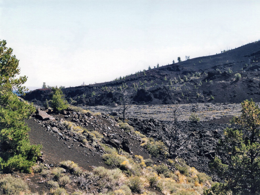 Lava beside the trail