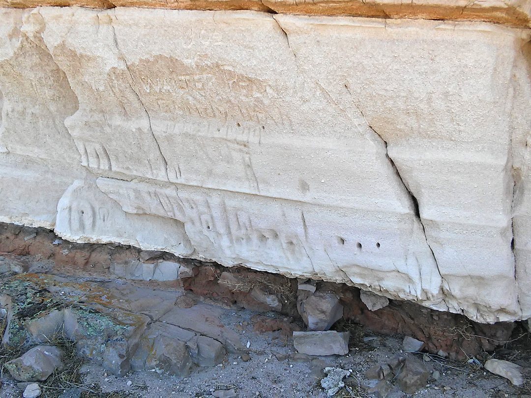 Inscriptions on tuff