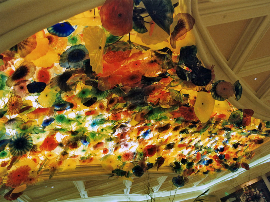 Ceiling of the Bellagio lobby