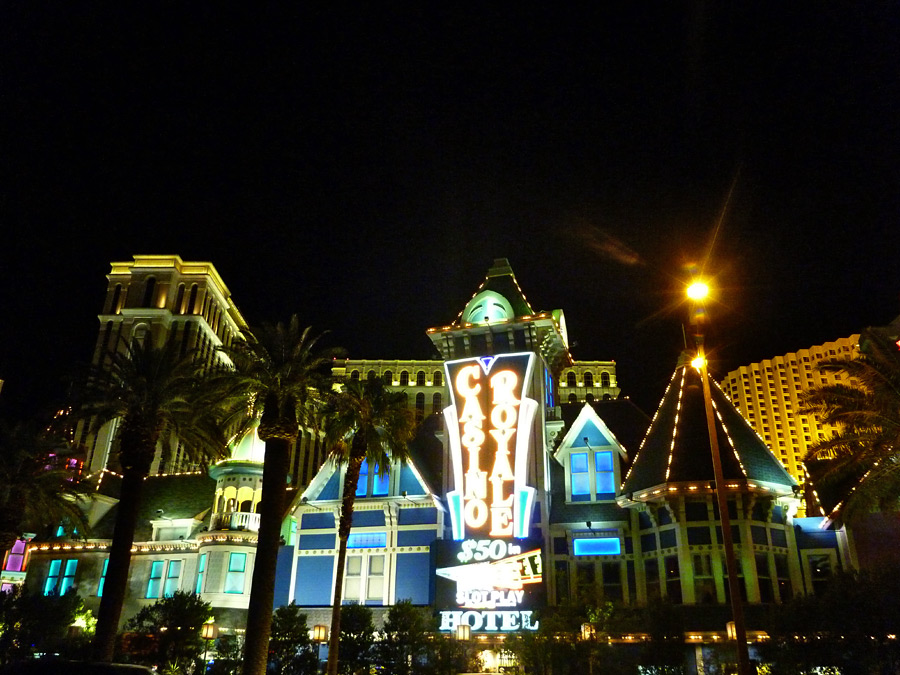 Frontage along the Strip