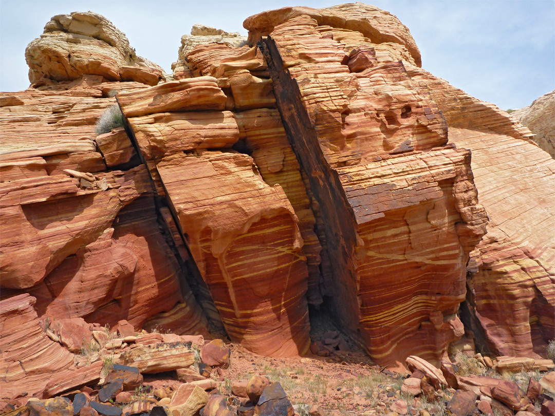 Eroded sandstone