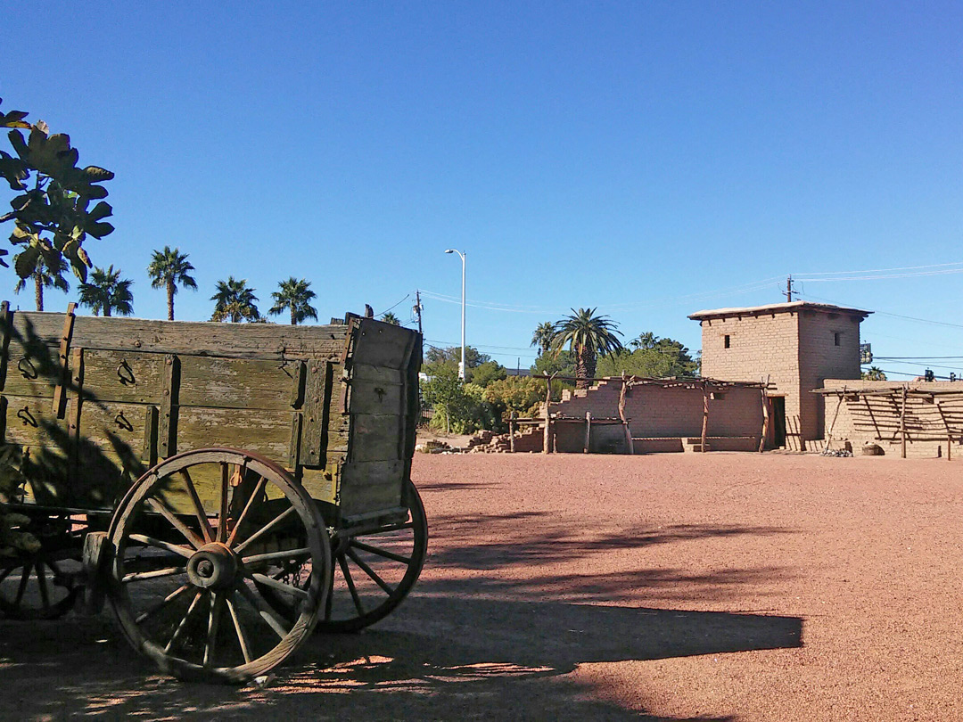 Wagon at the fort