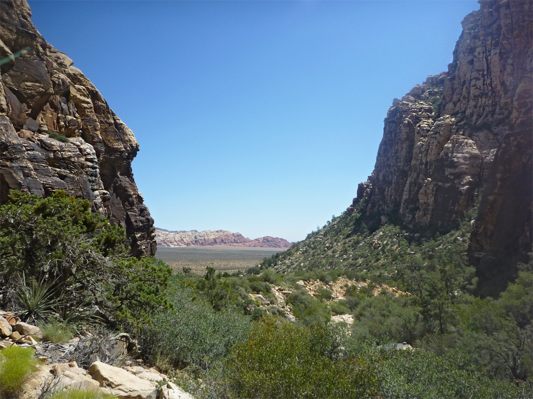 Lower end of the canyon