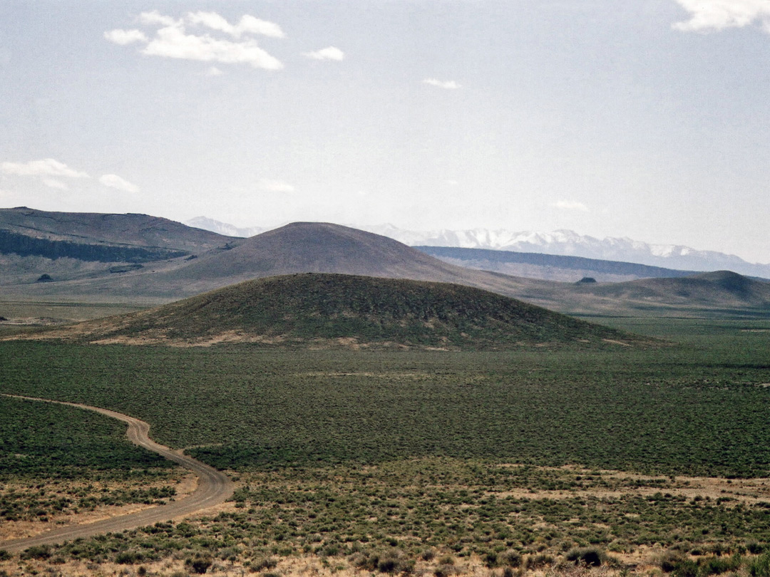 Road south of the crater