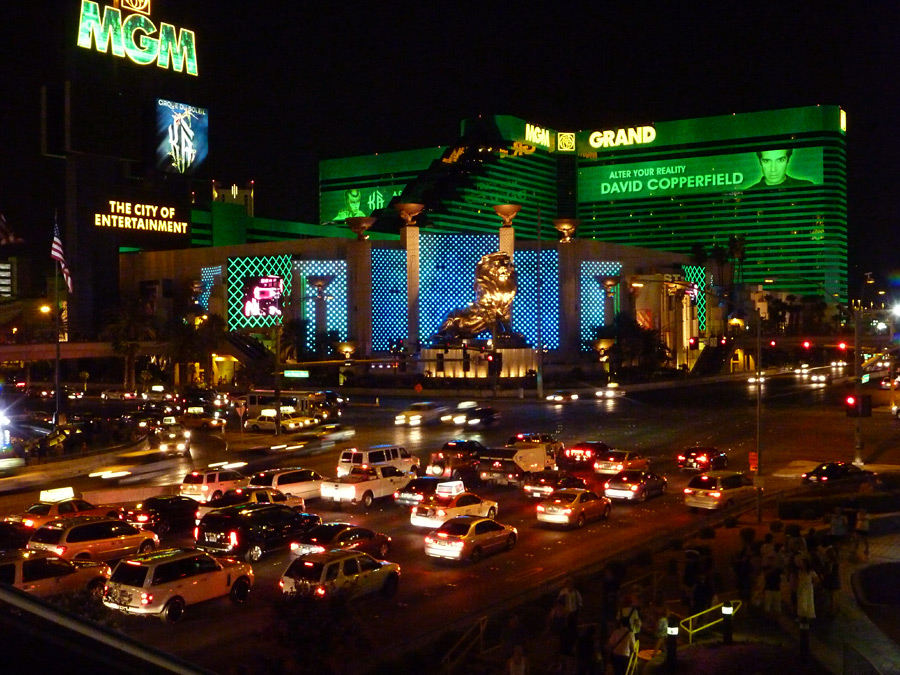 Traffic in front of the casino