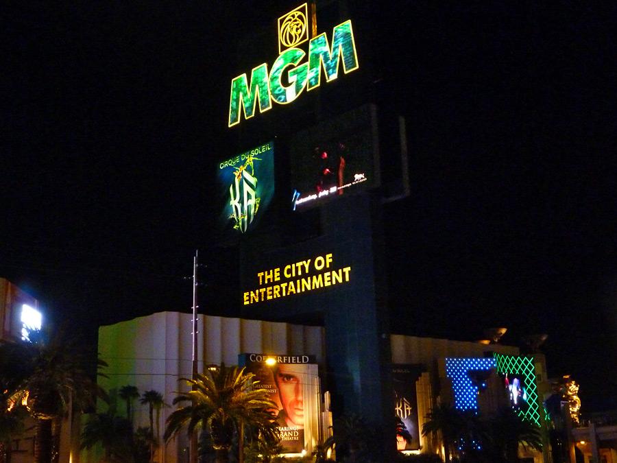 Casino sign - The City of Entertainment: MGM Grand, Las Vegas, Nevada