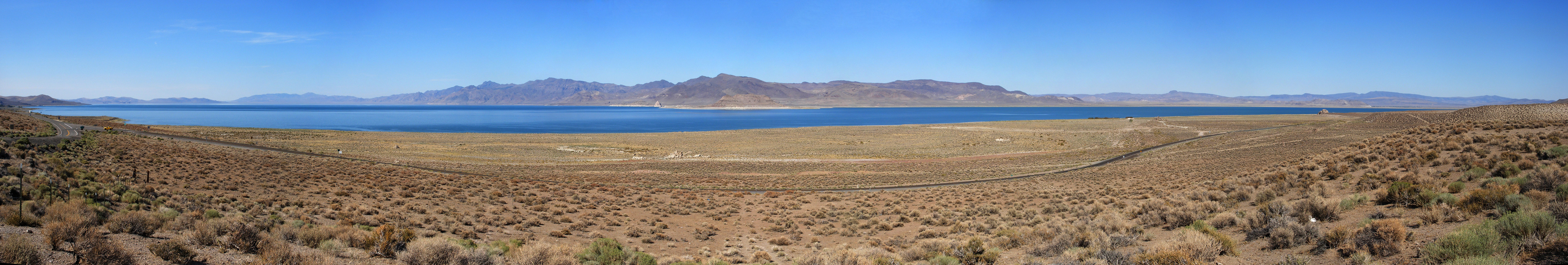 Panorama of Pyramid Lake