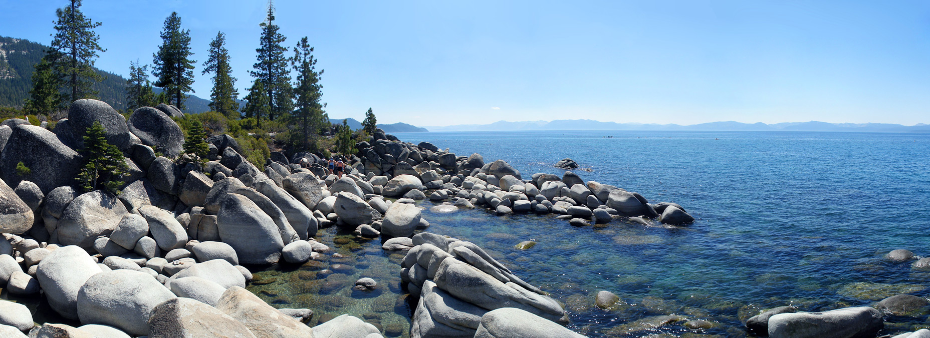 Granite boulders at Sand Point