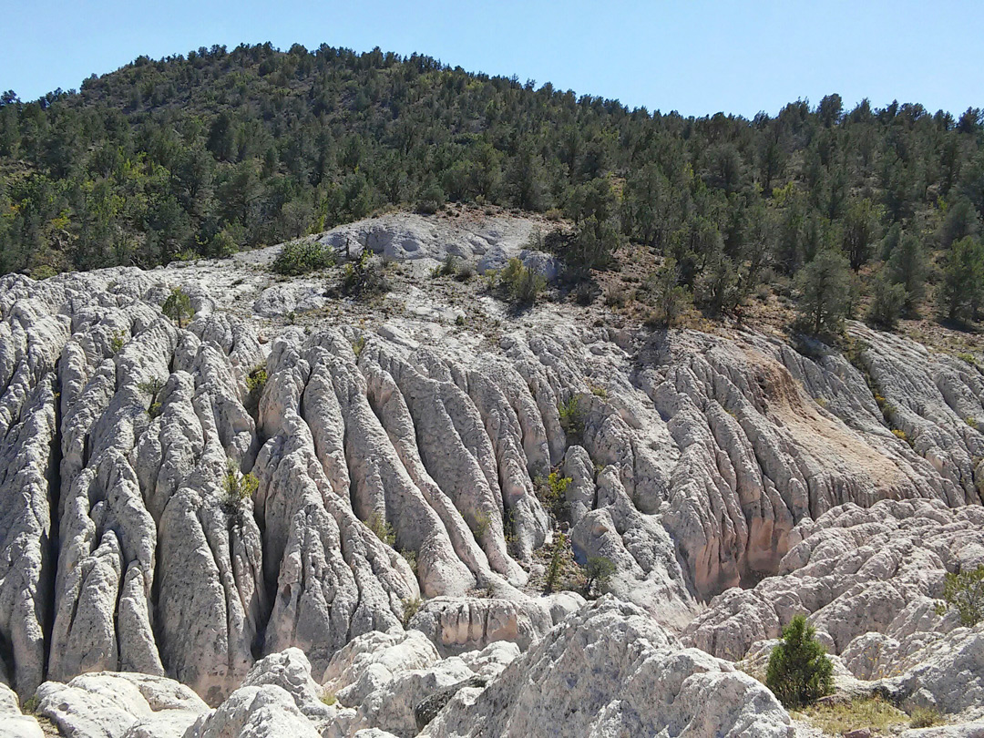 Eroded tuff