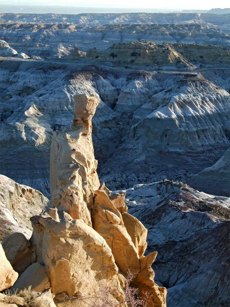 Sandstone Spire Angel Peak Scenic Area New Mexico