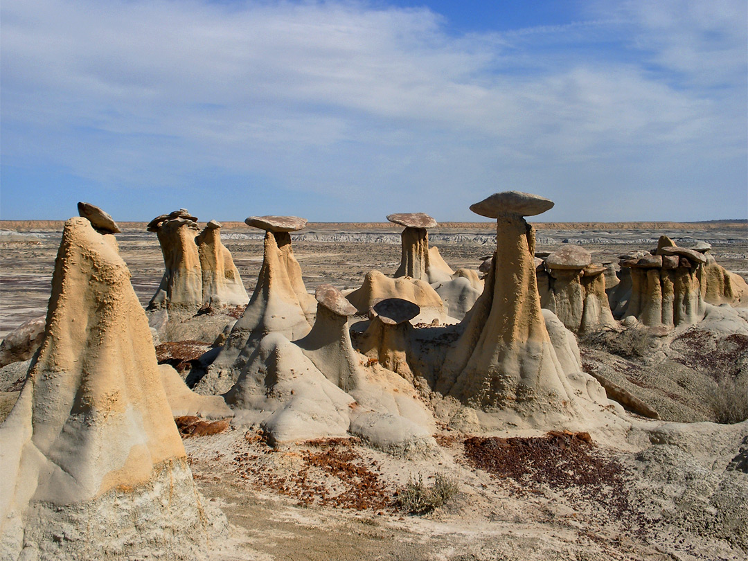 Isolated yellow hoodoos