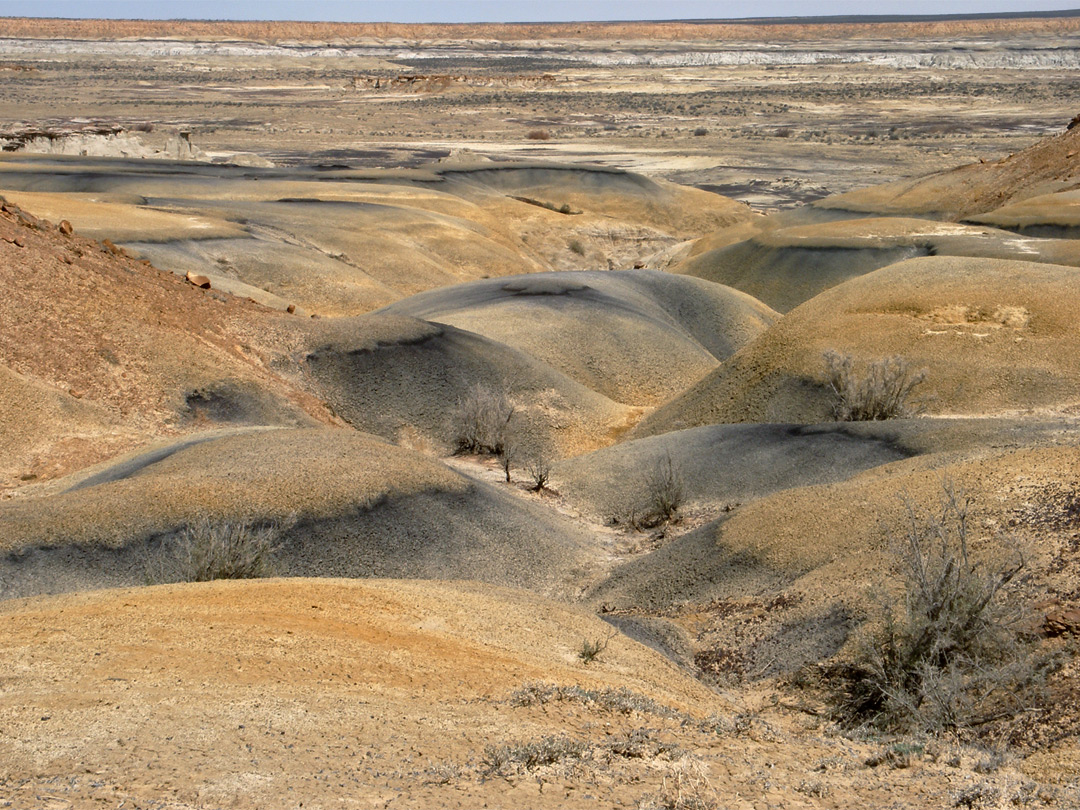 Black and ochre badlands