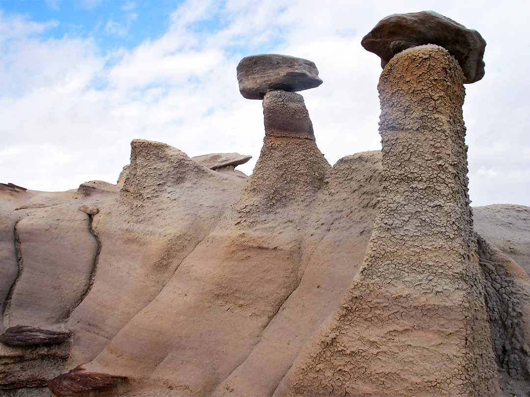 Pair of hoodoos
