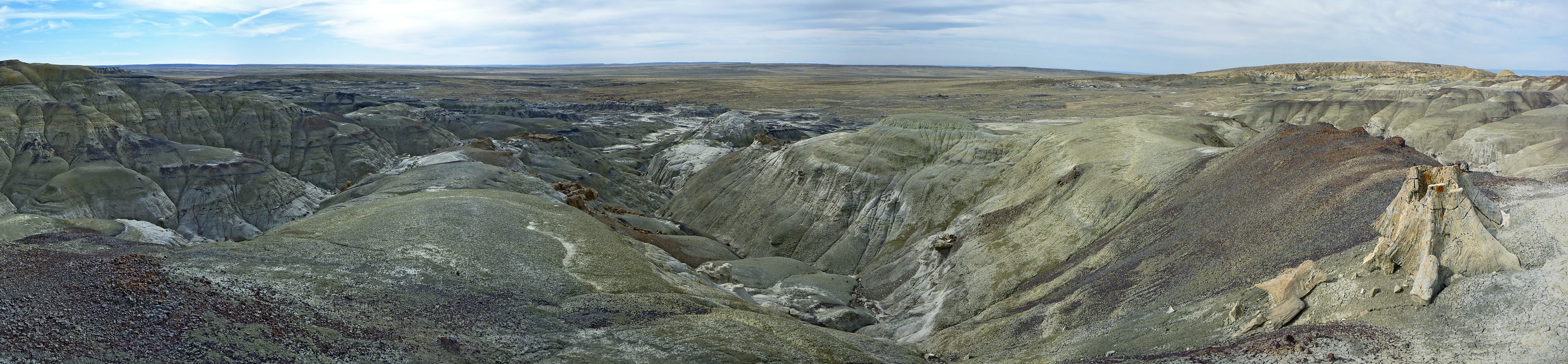 Panorama of the badlands