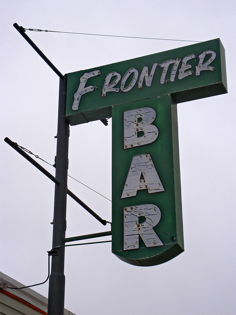Frontier Bar sign